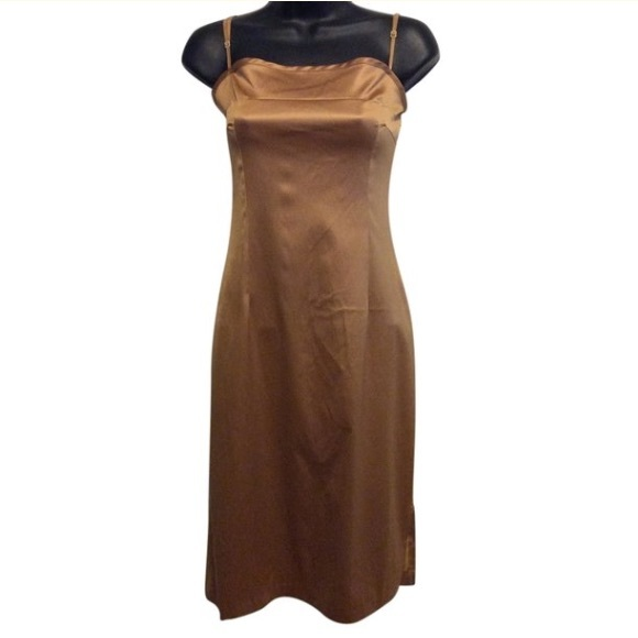 Solemio Dresses & Skirts - Sole Mio Gold Slip Dress